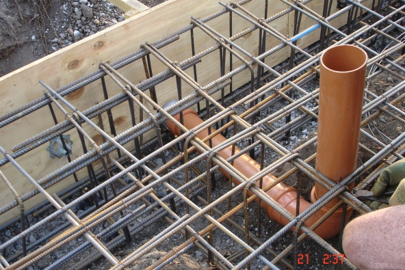 Reinforcing with drainage